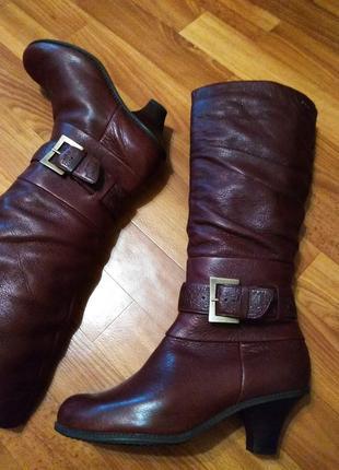 Сапожки женские clarks кожаные 24 см.