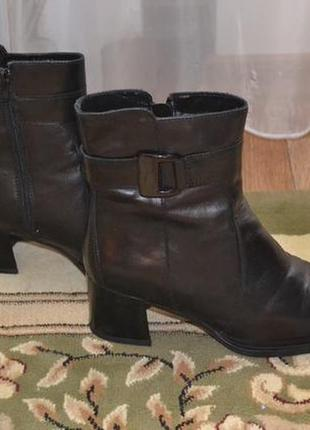 Натуральные кожаные  зимние полусапожки,ботинки
