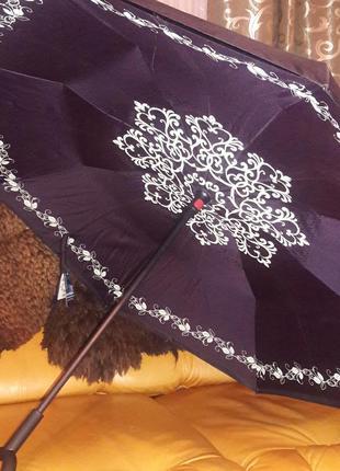 Зонт антиветер обратного сложения