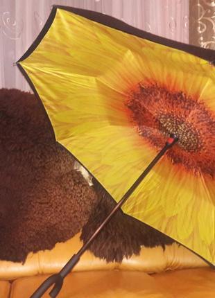 Зонт антиветер обратного сложения хит сезона
