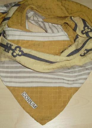 Corum  vintage  шелковый платок