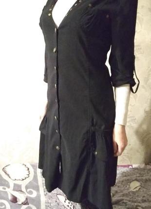 Платье чёрное на пуговицах