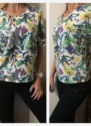 Футболка/блуза с классным рисунком и выбитым принтом