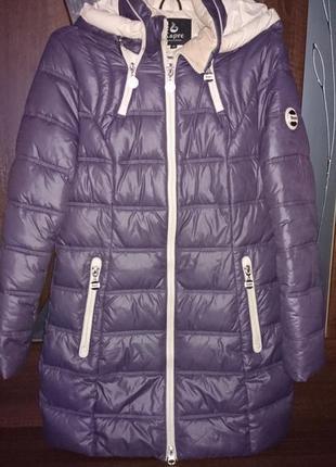 Красивая стильная зимняя теплая курточка-пальто kapre 46-48 размера на холофайбере