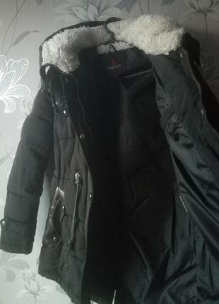 Зимняя куртка-парка на синтепоне мех очень теплая