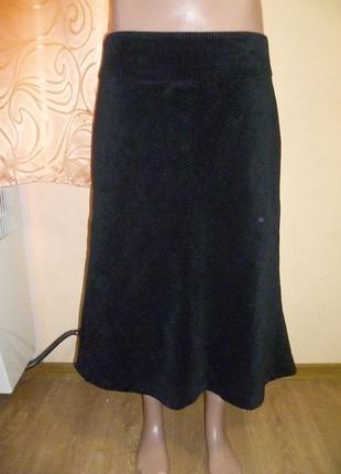 Вельветовая юбка колокольчик от h&m