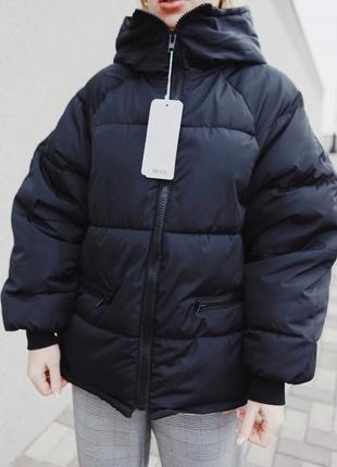 Хим зимы!  зимняя куртка оверсайз с капюшоном