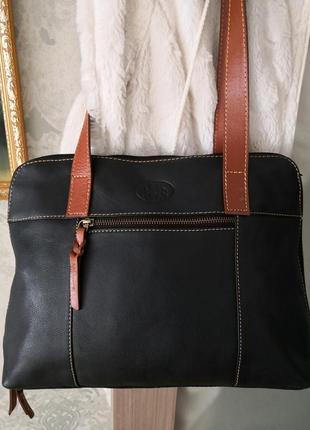 Роскошная большая кожаная сумка rowallan