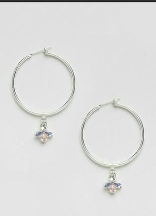 Серьги кольца серебряные asos