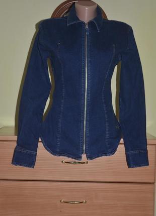 Крутая винтажная джинсовая рубашка burberry