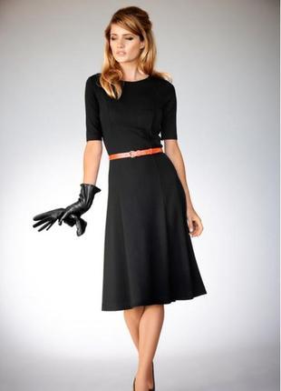 Трикотажное элегантное платье-миди bodyflirt от bonprix xs-s