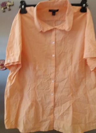 Рубашка женская,. не требует глажки.--plus-size--lands^end- -18-20р---- usa