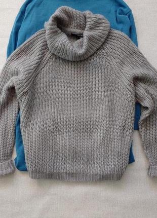 Шикарный объемный мохеровый свитер крупной вязки
