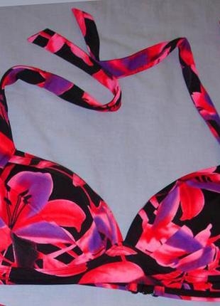 Верх от купальника раздельного топ лиф бюст чашка 75 в с розовый черный  фиолетовый
