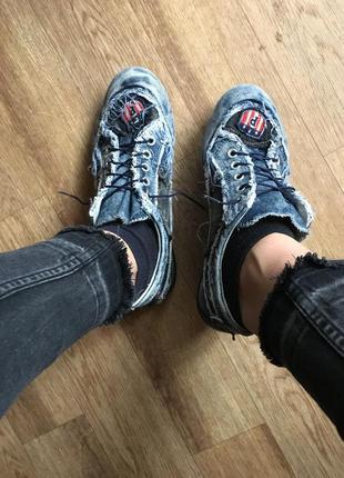 Стильные джинсовые кеды ,размер 38