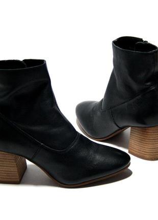 Кожаные ботинки на устойчивом каблуке от next