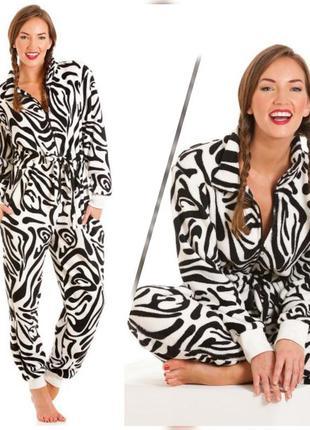 Классный плюшевый зебра слип пижама кигуруми lady olga big size uk18/20