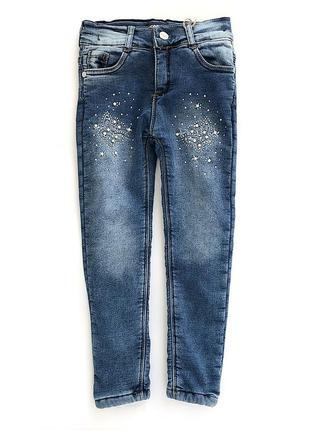 Теплые джинсы с меховушкой