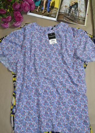 🍓нежная футболка в цветочный принт peacocks! 100% viscose!