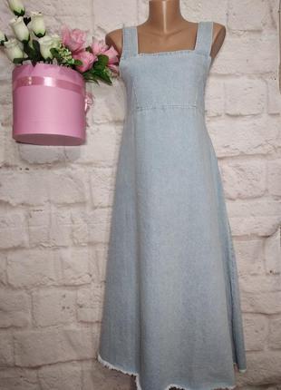 Платье новое  миди джинсовое р м oliver