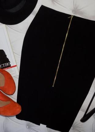 Большой выбор 🌸базовая черная юбка карандаш с молнией🌸