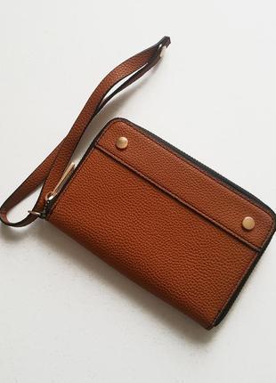 Клатч -портмоне кожа pu с ремешком