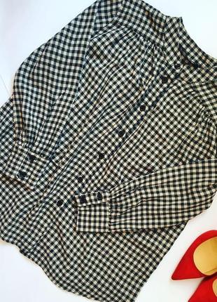 Стильная рубашка в клетку zara