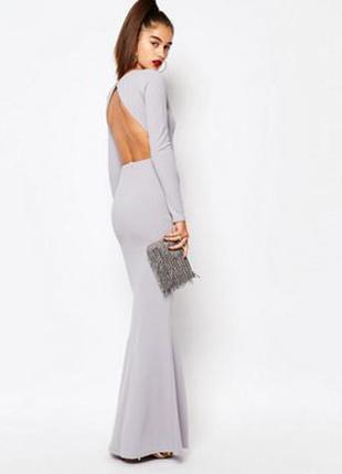 Платье макси c открытой спиной missguided