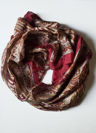 Шелковый шарф-палантин 165х50