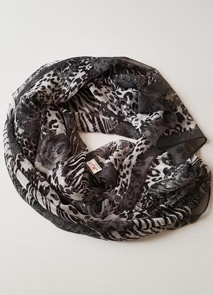 Шелковый  шарф палантин 50х160см