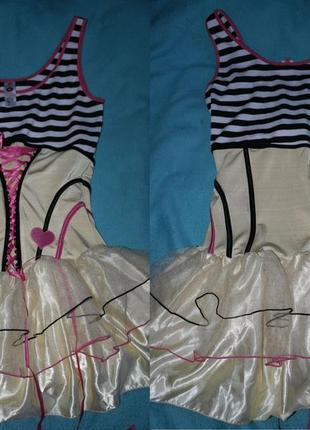 Smiffys платье коспле́й костюм карнавальный морячка пышная юбка