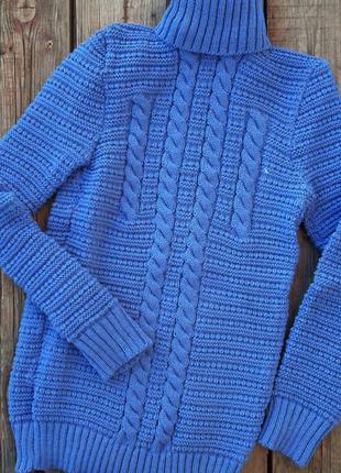 Вязаные свитера под горло,фиалка , теплые гольфы -водолазки , с-м-л-хл, 8 цветов