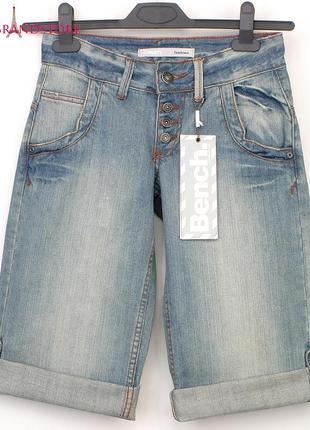 Бриджи bench англия 24/xs шорты джинсовые капри на девочку подростка стильные джинсы лето