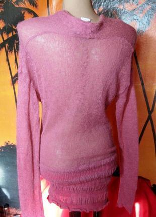Супер модный итальянский свитер-туника паутинка4