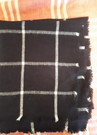 Палантин/широкий шарф черный
