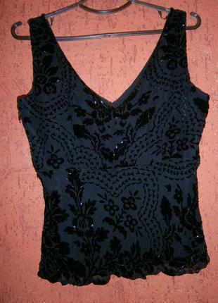 Шелк праздничная блуза панбархат- деворе