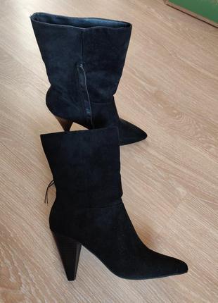 Ботинки , полусапоги замшевый материал