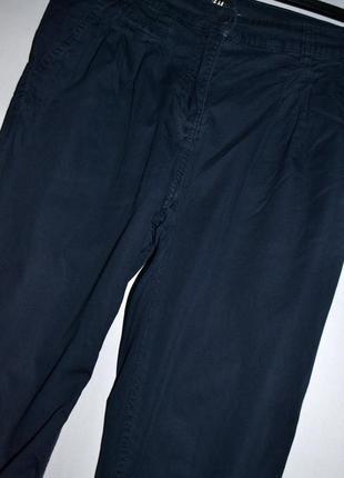 Шикарные брендовые темно-синие брюки h&m