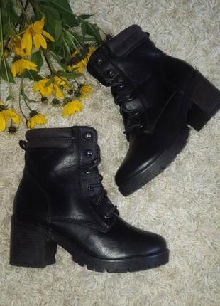 Стильные ботинки демисезонные сапожки сапоги на шнувке от cube