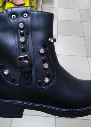Женские черные ботинки демисезонные 36,37,38,39,40