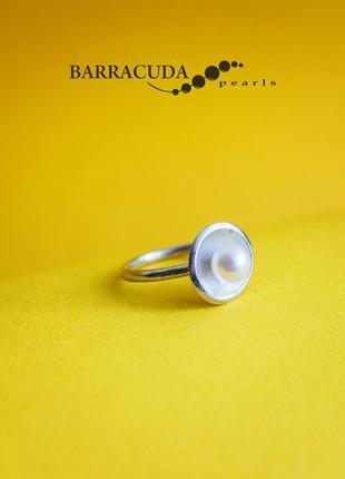 Кольцо с жемчугом, серебро 925