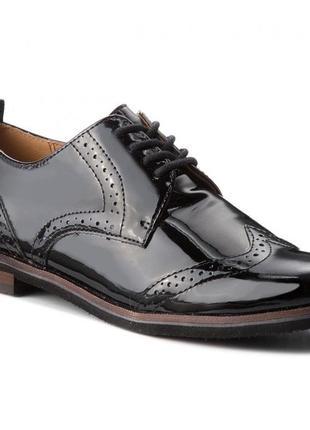 Шикарні шкіряні туфлі-оксфорди caprice, німеччина-оригінал