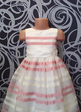 Нарядное белое платье ,пышное,5-6л