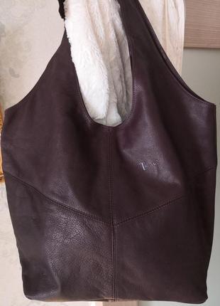Роскошная большая кожаная сумка think!