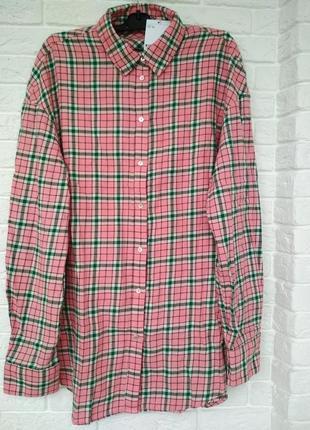 Фланелевая рубашка h&m 32 размер
