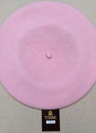 Берет фетровый чешской фирмы tonak и fezko. 130 534 нежно-розовый т