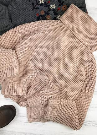 Обьемный оверсайз свитер zara knit