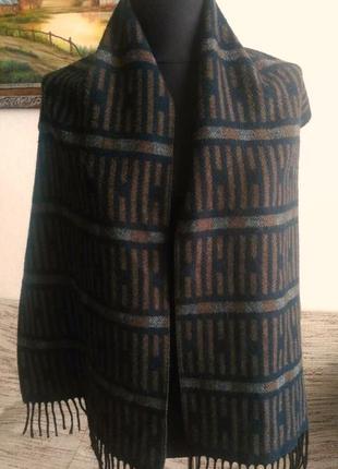 Супер теплый двухсторонний шарф мужской 33х156см.