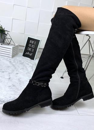 Зимние замшевые сапожки н на низком каблуке. размеры с 36 по 40