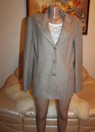 Шикарное пальто пиджак шерсть ламы, франция, размер m l caroll